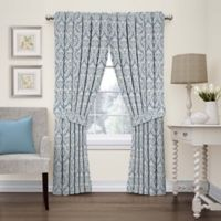 Waverly Donnington Damask 63-Inch Rod Pocket Window Panel in Cornflower