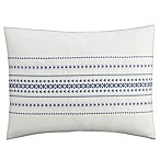 Cupcakes and Cashmere Indigo Stripe Standard Pillow Sham in White/Blue