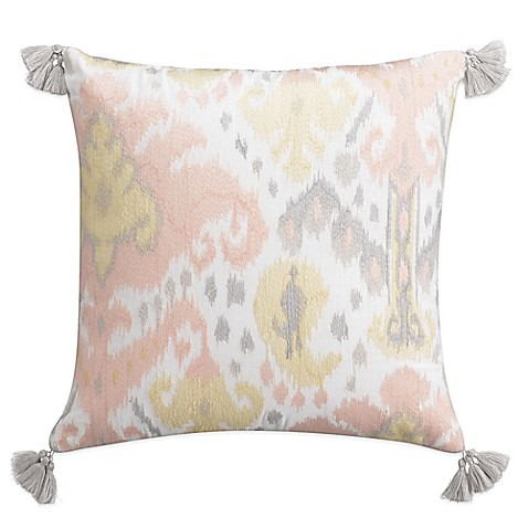 Cupcakes And Cashmere Kilim Square Throw Pillow In White
