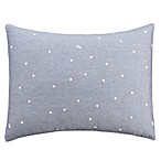 Chambray Dot Standard Pillow Sham in Blue