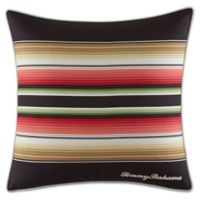 Tommy Bahama® Jungle Drive Striped Throw Pillow in Black/Red