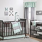 The Peanut Shell® Tribal Arrows 4-Piece Crib Bedding Set in Mint/Grey