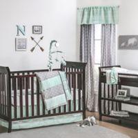 The Peanutshell Tribal Arrows 4 Piece Crib Bedding Set In Mint Grey