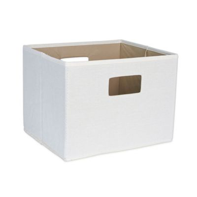 Household Essentials® Open Storage Bin with Cutout Handles in Natural Canvas  sc 1 st  Bed Bath u0026 Beyond & Buy Canvas Bins from Bed Bath u0026 Beyond