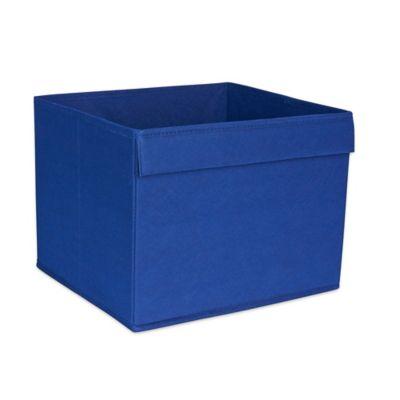 Buy bin warehouse 18 file box storage system from bed bath for Navy bathroom bin