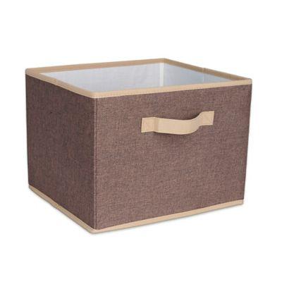 Household Essentials® Open Storage Bin With Cloth Handles In Coffee Linen