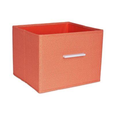 Household Essentials® Open Storage Bin With Aluminum Handles In Orange