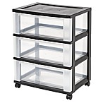 IRIS® 3-Drawer Storage Cart in Black