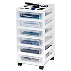 IRIS® 6-Drawer Rolling Storage Cart in White
