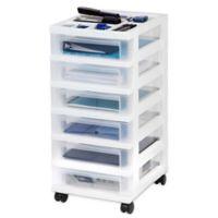 6 Drawer Rolling Storage Cart in White