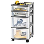 IRIS® 4-Drawer Rolling Storage Cart in Grey