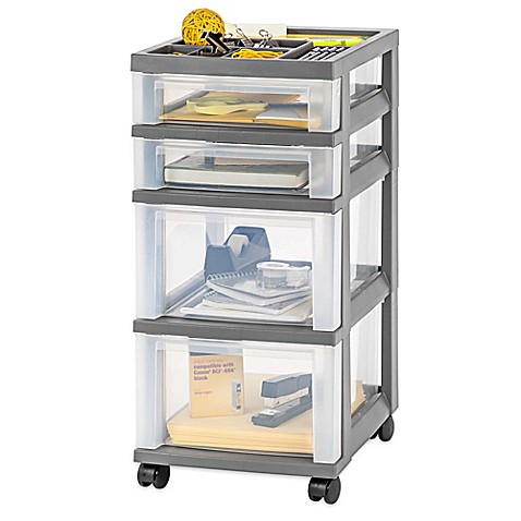 rolling storage carts iris 174 4 drawer rolling storage cart bed bath amp beyond 25642