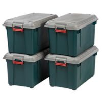 Store-It-All 21.8-Gallon Heavy Duty Storage Tote (Set of 4) in Green