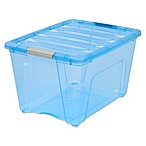 IRIS® Stack & Pull™ 54 qt. Modular Latch Boxes in Blue (Set of 6)