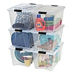 IRIS® Stack & Pull™ 54 qt. Plastic Latch Boxes (Set of 6_