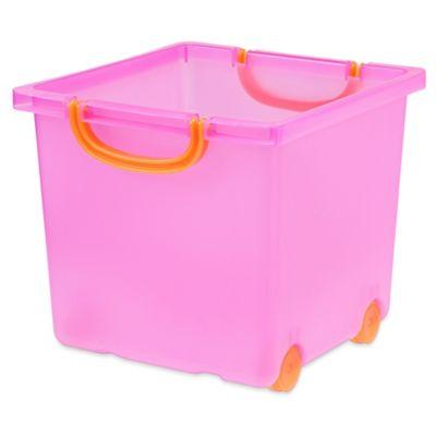 Iris Usa Toy Storage Bin In Pink Set Of 6