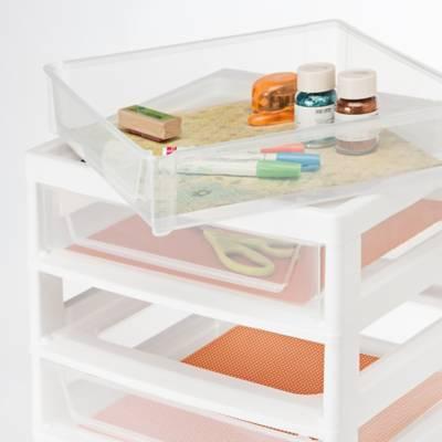 Iris 6 Drawer Scrapbook Cart With Organizer In White Bed Bath