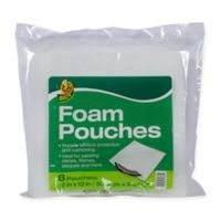 Duck® Foam Pouches in White (8-Pack) 12in. x 12in.