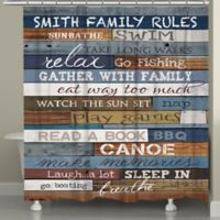"Laural Home® ""Lake Rules"" Shower Curtain"