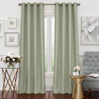 Solar Shield Neilson 95-Inch Grommet Room Darkening Window Curtain Panel in Sage