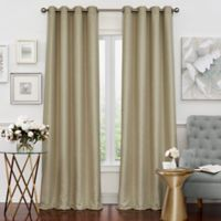 Solar Shield Neilson 108-Inch Grommet Room Darkening Window Curtain Panel in Champagne