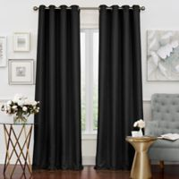 Solar Shield Neilson 108-Inch Grommet Room Darkening Window Curtain Panel in Black