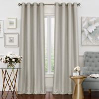 Solar Shield Neilson 108-Inch Grommet Room Darkening Window Curtain Panel in Silver