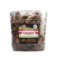Pet 'n Shape™ Natural Beef Lungs CHUNX 2-Lb Tub Dog Treats in Peanut Butter