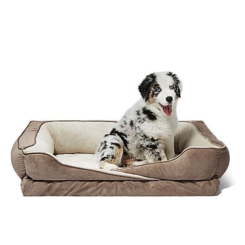 crisscross orthopedic foam pet bed with bolster walls bed bath beyond. Black Bedroom Furniture Sets. Home Design Ideas