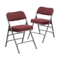 Flash Furniture Hercules Padded Folding Chairs in Burgundy (Set of 2)