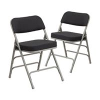 Flash Furniture Hercules Padded Folding Chairs in Grey/Black (Set of 2)