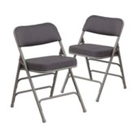 Flash Furniture Hercules Padded Folding Chairs in Grey (Set of 2)