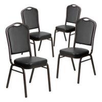 Flash Furniture HERCULES Banquet Chair in Black (Set of 4)