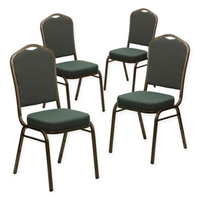 Flash Furniture HERCULES Banquet Chair in Green (Set of 4)