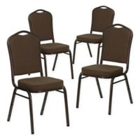Flash Furniture Fabric 4-Pack Banquet Chair in Brown