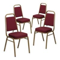 Flash Furniture Hercules Banquet Chair in Burgundy/Gold (Set of 4)