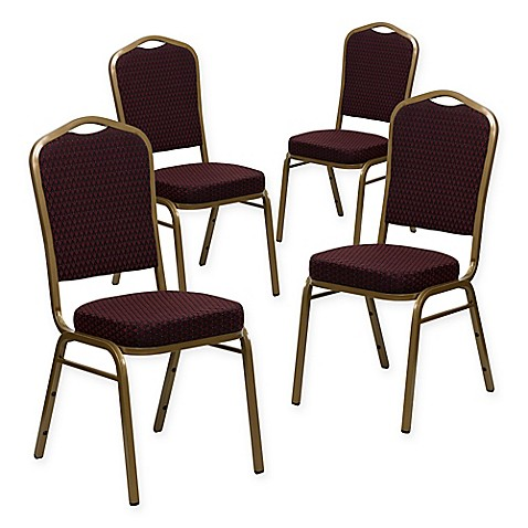 Buy Flash Furniture HERCULES Banquet Chairs In Burgundy Gold Set Of 4 From