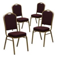 Flash Furniture HERCULES™ Banquet Chairs in Burgundy/Gold (Set of 4)