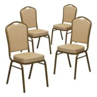 Flash Furniture HERCULES™ Banquet Chairs in Beige/Gold (Set of 4)