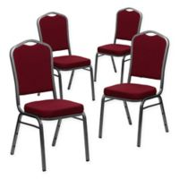 Flash Furniture HERCULES Banquet Chair in Burgundy (Set of 4)