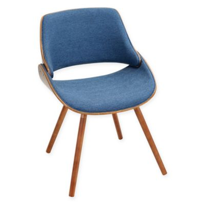 Lumisource Fabrizzi Chair In Walnut/Blue