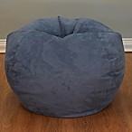 Large Microsuede Bean Bag Chair in Washed Blue