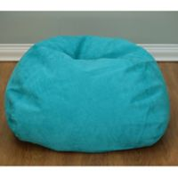 Large Microsuede Bean Bag Chair in Turquoise
