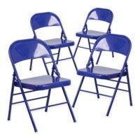 Belgic Hercules Folding Chair in Cobalt Blue