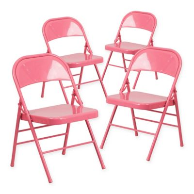 Delicieux Belnick Hercules Folding Chair In Bubblegum Pink
