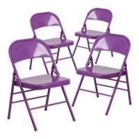 Belnick Hercules Folding Chair in Purple