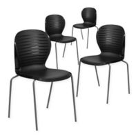 Flash Furniture Ribbed Back Stack Chairs (Set of 4)