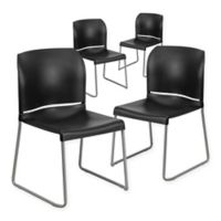 Flash Furniture Hercules Full Back Stack Chairs (Set of 4)