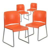 Flash Furniture Hercules Full Back Stack Chairs (Set of 4)
