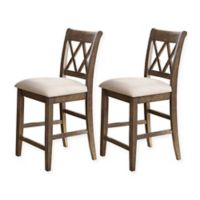 Steve Silver Co. Franco Wood Counter Stools (Set of 2)